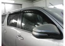 Дефлекторы окон для Toyota Hilux Revo (2015-2021)