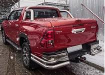 Уголки двойные d76/42 для Toyota Hilux Revo (2015-2017)
