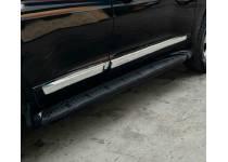 Молдинги боковых дверей, черные для Toyota Land Cruiser 200 (2007-2012)