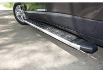 Пороги алюминиевые с пластиковой накладкой 1720 мм для Jeep Cherokee (2014-)