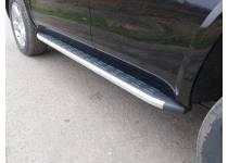 Пороги алюминиевые с пластиковой накладкой 1920 мм для Chevrolet Tahoe (2016-)