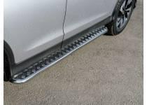 Пороги труба d42 с листом (вариант 1) для Honda CRV (2015-)