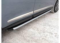Пороги алюминиевые с пластиковой накладкой 1820 мм для Infiniti QX60 (2016-)