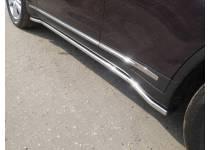 Пороги труба 42,4 мм для Infiniti QX70 (2015-)