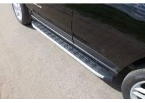 Пороги алюминиевые с пластиковой накладкой 1720 мм для Jeep Compass (2014-)