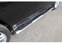 Пороги овальные с накладкой 120х60 мм для Jeep Compass (2014-)
