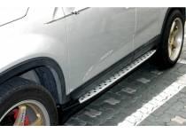 Боковые пороги OEM BMW Style для Kia Sorento (2009-2012)
