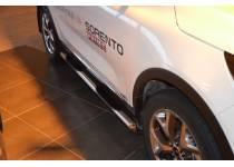 Пороги труба с проступью d76 для Kia Sorento Prime (2015-)