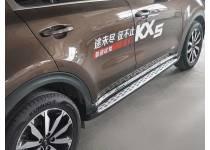 Боковые пороги OE Style для Kia Sportage (2016-)