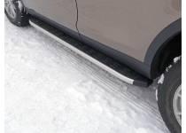 Пороги алюминиевые с пластиковой накладкой 1820 мм для Land Rover Discovery Sport (2015-)