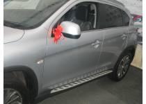 Боковые пороги OEM STYLE для Peugeot 4008 (2012-)