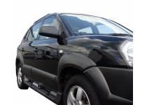 Боковые пороги OEM STYLE для Hyundai Tucson (2004-2009)