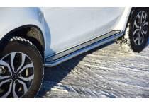 """Пороги с алюм. площадкой """"Эстонец"""" d51 для Renault Duster"""