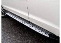 Боковые пороги BMW Style для Hyundai Santa Fe (2013-)