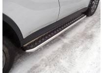 Пороги с площадкой 42,4 мм для Suzuki Grand Vitara (2015-)