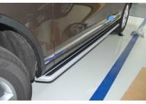 Боковые пороги OEM STYLE для для Volkswagen Touareg (2010-2013)