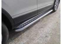 Пороги с площадкой 60,3 мм для Volkswagen Tiguan (2017-)