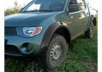 Расширители колесных арок широкие 90 мм для Mitsubishi L200 (2006-2013)