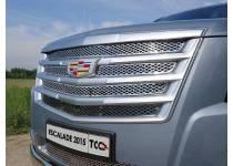 Решетка радиатора верхняя (лист) для Cadillac Escalade (2015-)