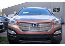 Накладка для решетку радиатора d10 для Hyundai Santa Fe (2013-)