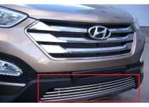 Накладка для решетку бампера d10 для Hyundai Santa Fe (2013-)