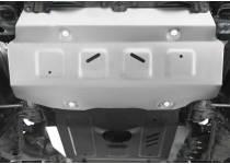 Защита радиатора, картера, КПП, раздатки, бензобака алюм. 4 мм для Toyota Hilux Revo (2015-2021)