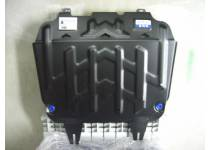 Защита радиатора, картера, КПП, раздатки, бензобака сталь 2 мм на Toyota Hilux Revo (2015-2016)