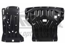 Защита картера двигателя и кпп 8 мм, композит для BMW X4 (2015-)