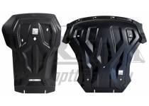 Защита картера двигателя и кпп 8 мм, композит для BMW X5 F15 (2014-)