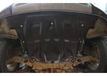Защита картера двигателя и кпп 8 мм, композит для Hyundai Santa Fe (2013-)
