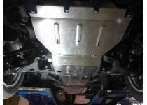 Комплект защит радиатора, картера, КПП, раздатки, бака алюминий, 4 мм для Infiniti QX80 (2014-)