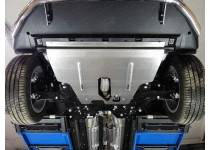 Комплект защит картера, заднего редуктора, бака алюминий, 4 мм для Jeep Renegade 4WD (2015-)