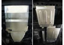 Защита радиатора, картера, КПП, раздатки, бензобака алюм. 4 мм для Mercedes-Benz X (2017-)