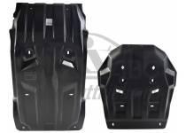Комплект защит картера, КПП, разд. коробки и радиатора 10 мм, композит для Mitsubishi L200 (2015-)