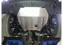 Комплект защит картера, бака правая и левая, топливопровода, алюминий 4 мм для Mitsubishi Outlander 2014