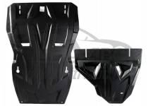 Комплект защит двигателя, КПП, разд. коробки, радиатора 8 мм, композит для Mitsubishi Pajero 4 (2012-2013)