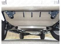 Комплект защит радиатора, картера, КПП, раздатки алюминий 4мм для Mitsubishi Pajero 4 (2014-)
