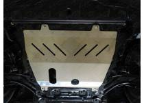 Комплект защит картера, дифференциала, бака левая и правая, алюминий 4 мм для Nissan X-Trail (2015-)