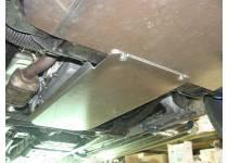 Комплект защит КПП, радиатора охлаждения, картера, передняя нижняя (овальная), алюминий 4 мм для Ssang Yong Kyron (2007-)