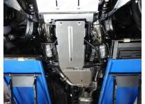 Комплект защит радиатора, картера, КПП, раздаточной коробки, алюминий 4 мм для Toyota Land Cruiser 200 (2016-)