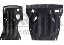 Защита картера двигателя и кпп 10 мм, композит для Volkswagen Touareg (2010-2013)