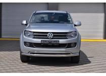 Защита переднего бампера двойная d70/40 для Volkswagen Amarok (2010-2015)