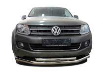 Защита переднего бампера двойная d76/60 для Volkswagen Amarok (2010-2015)