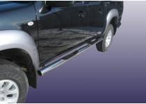 Пороги труба с проступью d76 для Mazda BT-50 (2007-2012)