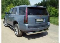 Защита задняя (овальная) 120х60 мм для Cadillac Escalade (2015-)