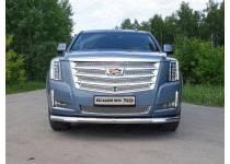 Защита передняя нижняя (с ДХО) 76,1 мм для Cadillac Escalade (2015-)