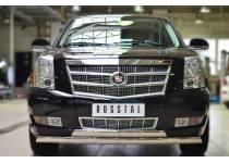 Защита переднего бампера D75х42 (дуга) D75х42 (дуга) для Cadillac Escalade (2007-2015)