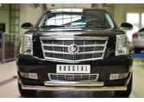 Защита переднего бампера D76 (дуга) D76 (дуга) для Cadillac Escalade (2007-2015)