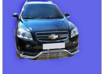 Защита переднего бампера с декоративной решёткой d60 для Chevrolet Captiva (2006-2012)