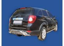 Защита заднего бампера с декоративной решёткой d60 для Chevrolet Captiva (2006-2012)